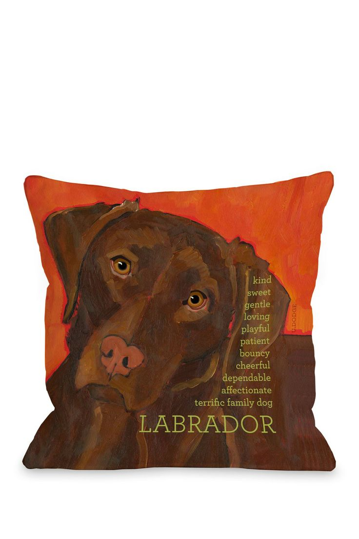 Sweet Labrador Pillow.