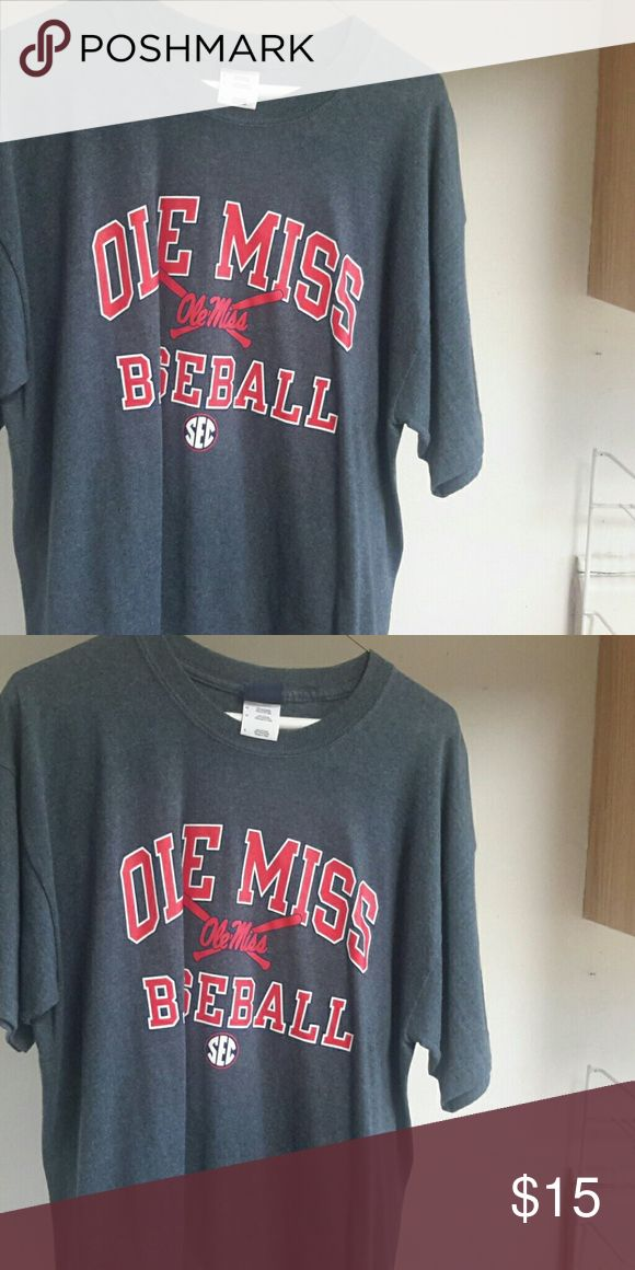 Large Ole miss baseball tee Never been used perfect shape Shirts Tees - Short Sleeve