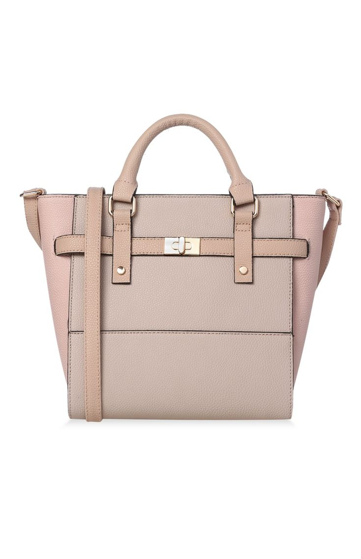 Primark - Tote bag color carne con mini lucchetto