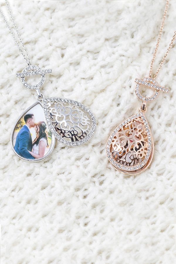 Rose Gold Jewelry For Gifts Personalized Locket Necklace Custom Photo Pendant Lockets Holiday Gifts The Bella With You Lockets Silver Photo Locket Photo Locket Rose Gold Locket