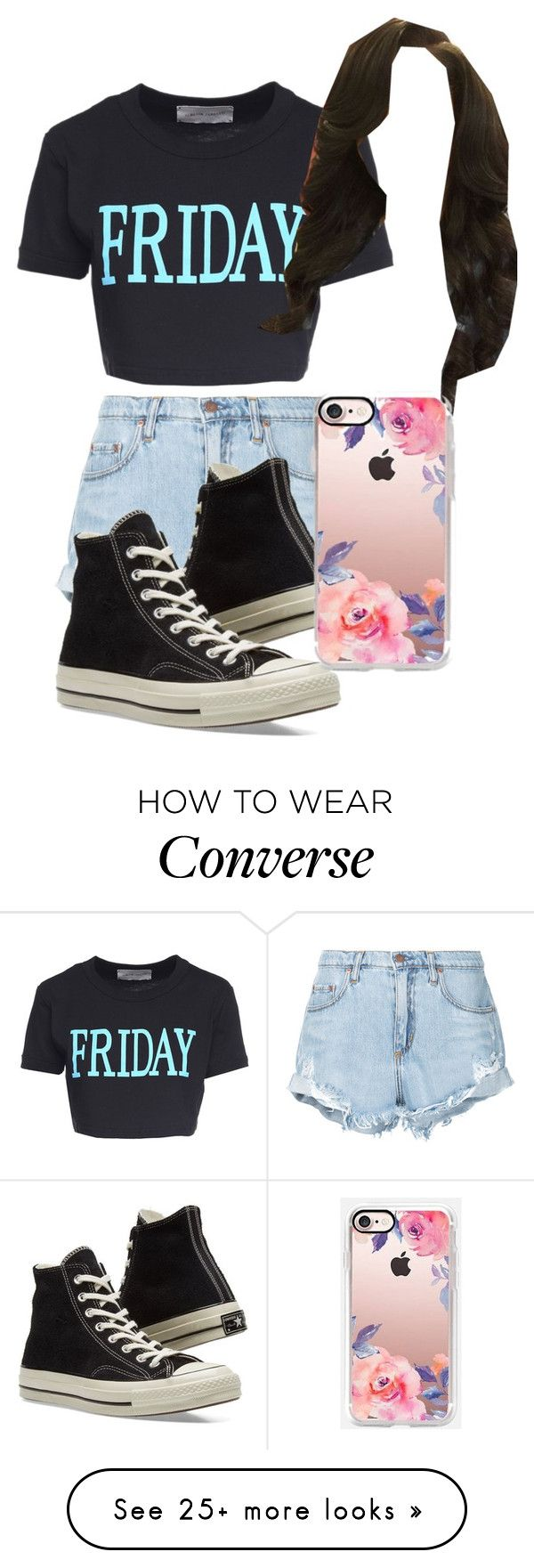 """""""Favorite Day of The Week"""" by johnnapaige21 on Polyvore featuring Alberta Ferretti, Nobody Denim, Converse and Casetify"""