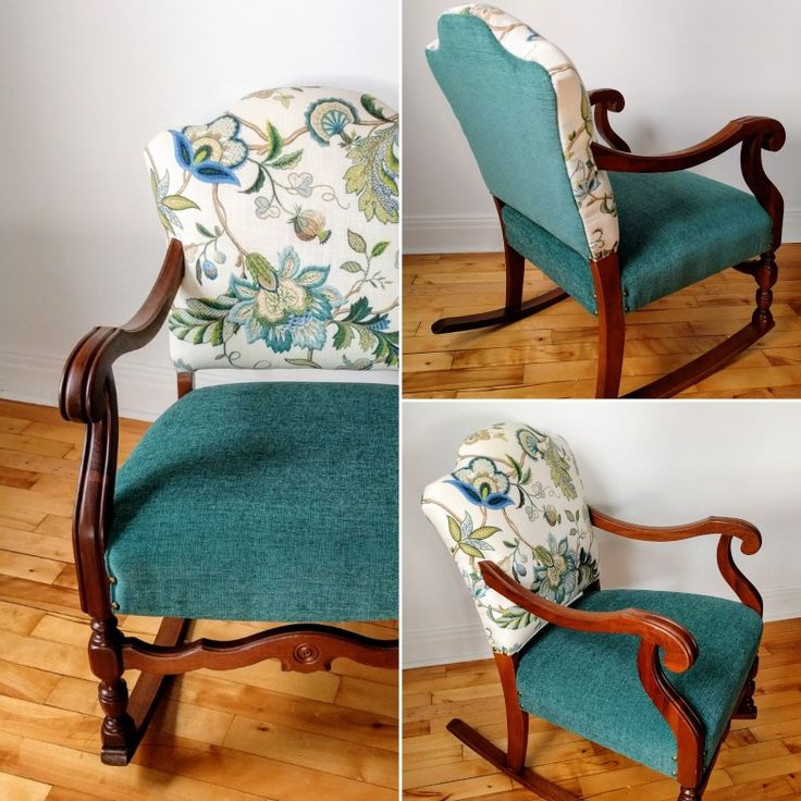 Upholstery makeover. This rocking chair has been fully restored. It looks so much better now.