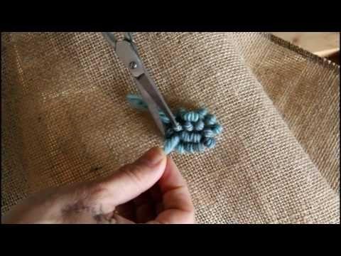 Punchneedle (Stanznadel) Rug Hooking, deutsch - YouTube