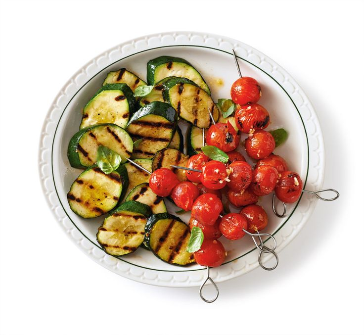 Garlicky Grilled Zucchini and Tomatoes