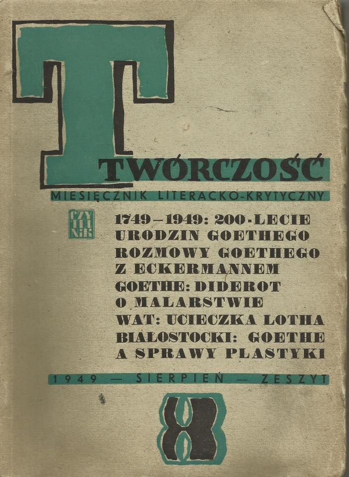 TWÓRCZOŚĆ, monthly literary - critical, August 1949. #forsale #magazine #postwar #tworczosc #fleamarket #fleamarketfinds #vintage #vintagestore #vintagefinds #vintagestuff #antiquities #antique #oldstuff #antiqueshop #antiquefinds #oldshop #starysklep #oldshopstarysklep #krakow #cracow