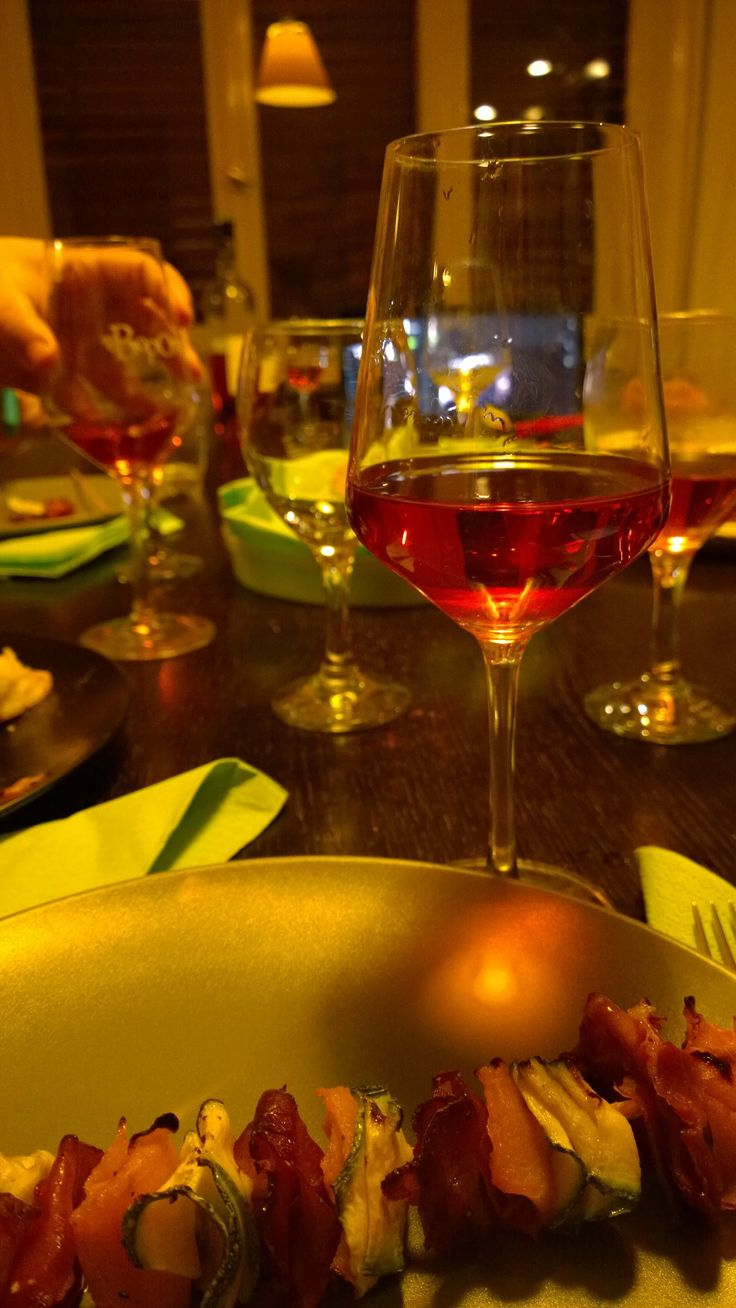 Lalikos Mountain Vineyards Variete Rose 2014  makes a perfect match with a zucchini-butternut squash-jamon serrano stick.