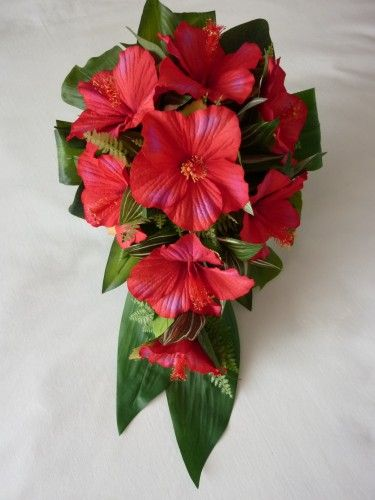 Red hibiscus bouquet - Google Search
