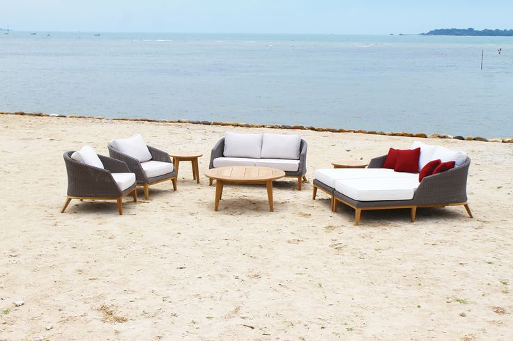 Grace lounge armchairs, Grace sofa, Grace coffee table, Grace chaise and Sunbrella cushions #OutdoorFurniture #ResinWeave  https://westminsteroutdoorliving.com/index.php/catalogsearch/result/?q=grace