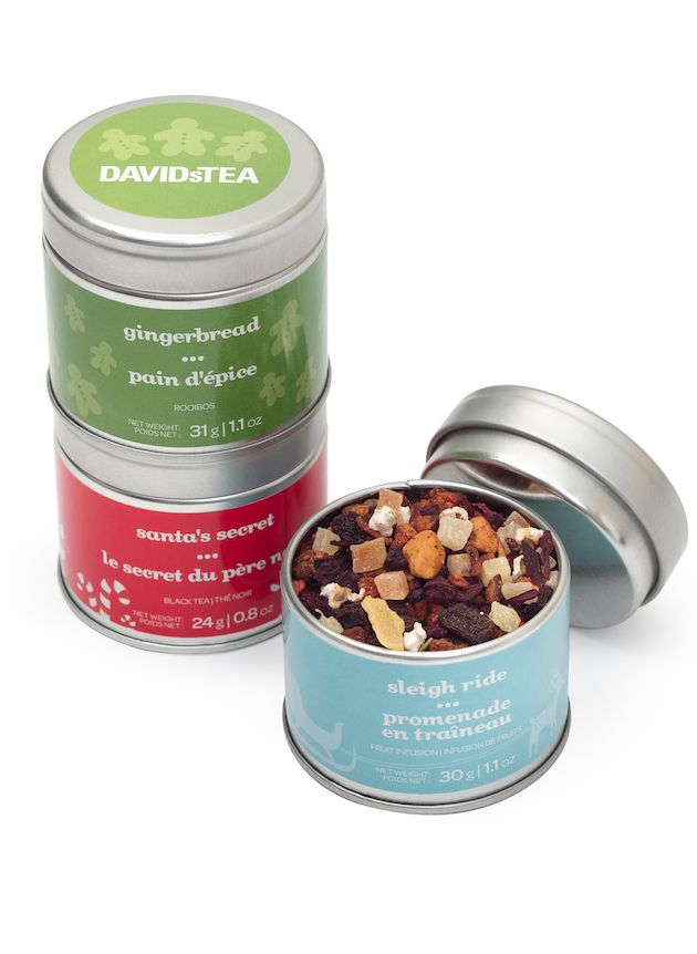 Cute, convenient stackable tins - perfect for at home or on the go!