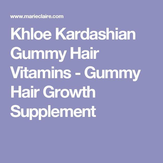 Khloe Kardashian Gummy Hair Vitamins  Gummy Hair Growth Supplement