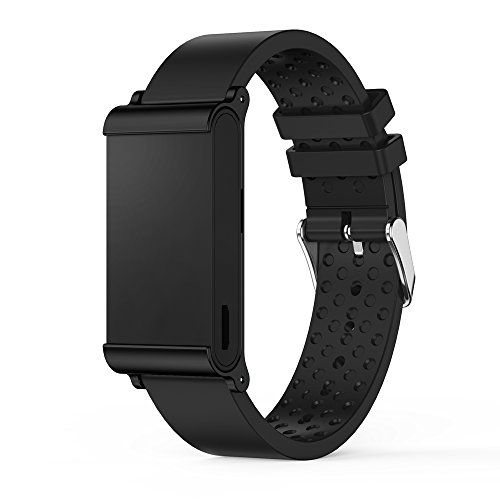 LandFox Sports Silicone Bracelet Strap Band For Withings Pulse OxBlack *** Learn more by visiting the image link.