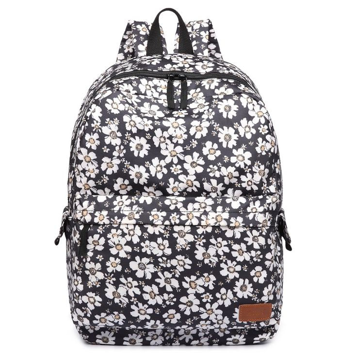Fashion women flower Print lively colors large bags school backpacks laptop bag for teenagers cute girls bags made oilcloth