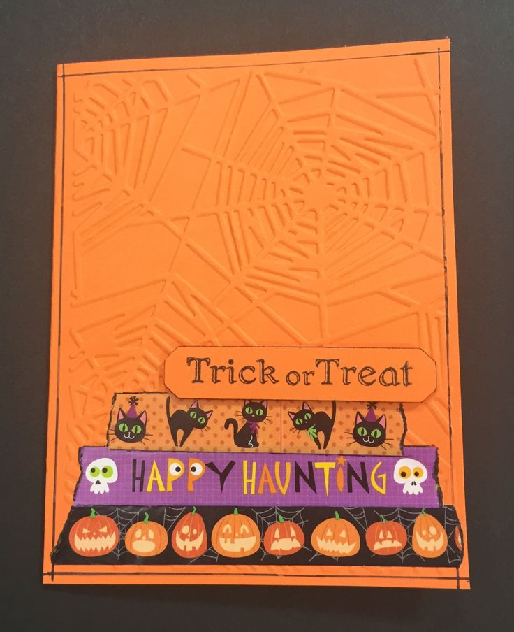 Web embossed Halloween Card www.barbaramichelle.com: