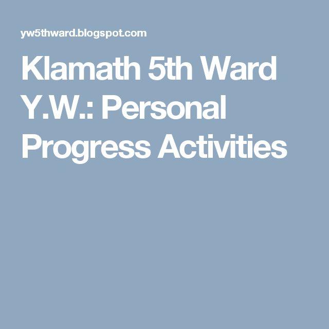 Klamath 5th Ward Y.W.: Personal Progress Activities