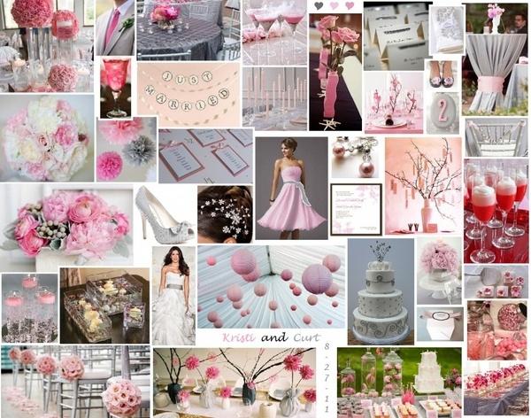 gray and pink weddingWhite Wedding, Grey Wedding, Gray Wedding, Wedding Ideas, Pink Weddings, Wedding Colors, Wedding Inspiration Boards, Blue Wedding, Gray Pink