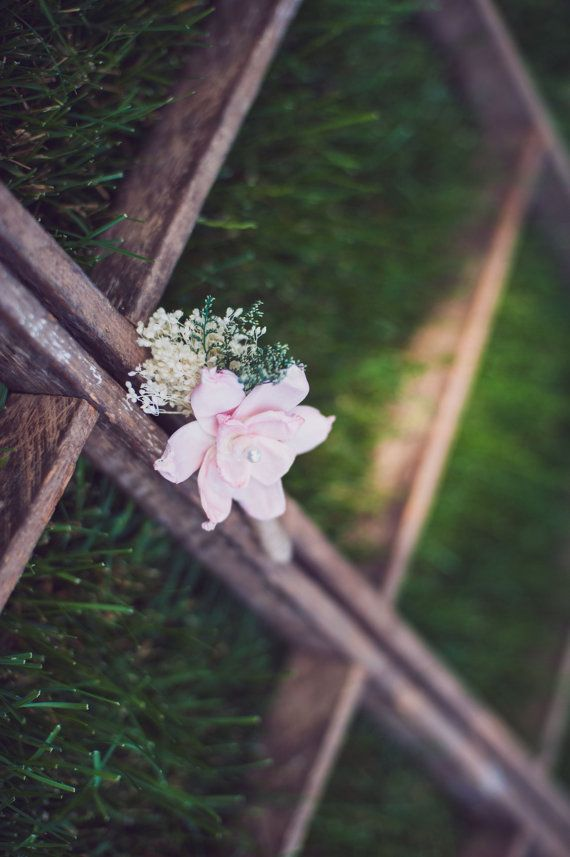Blush Pink Boutonniere Made to Order- Groom Wedding, Buttonhole, Groomsmen, Sola Flower, Wedding, Wedding Flowers