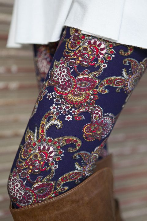 Navy/Red Paisley Leggings                                                                                                                                                                                 More