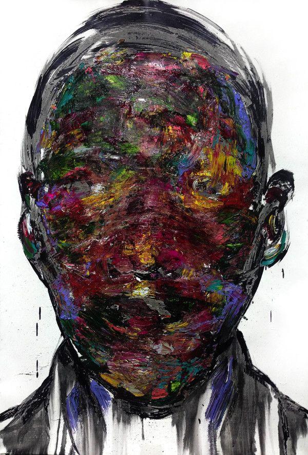 [229] untitled oil on canvas  72.7 x 53 cm 2013 by KwangHo Shin, via Behance