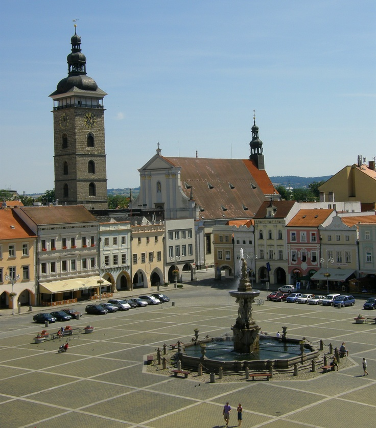 Ceske Budejovice, Czech Republic.  In the region of Bohemia.  I visited soon after the fall of Communisim.  Brought back some beautiful Bohemian glassware and porcelain.