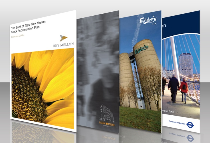 A selection of corporate brochure designs