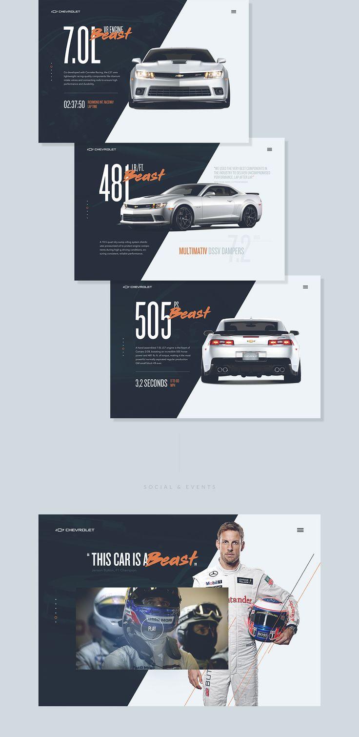Chevrolet Camaro Redesign on Web Design Served