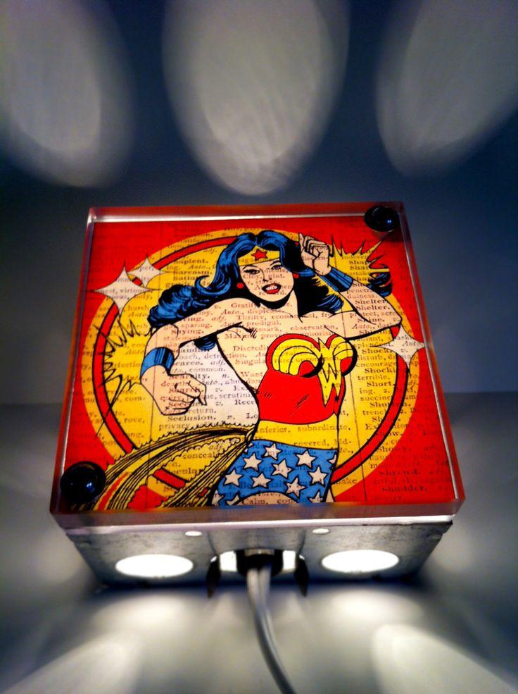 Superhero character lightboxes
