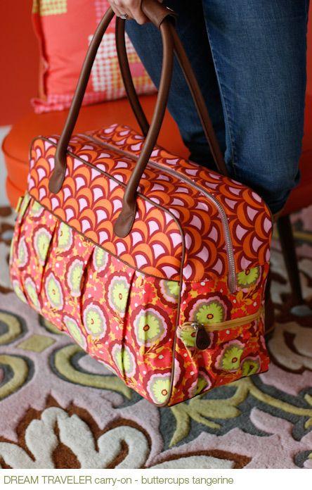 Dream Traveler carry-on - buttercups tangerine