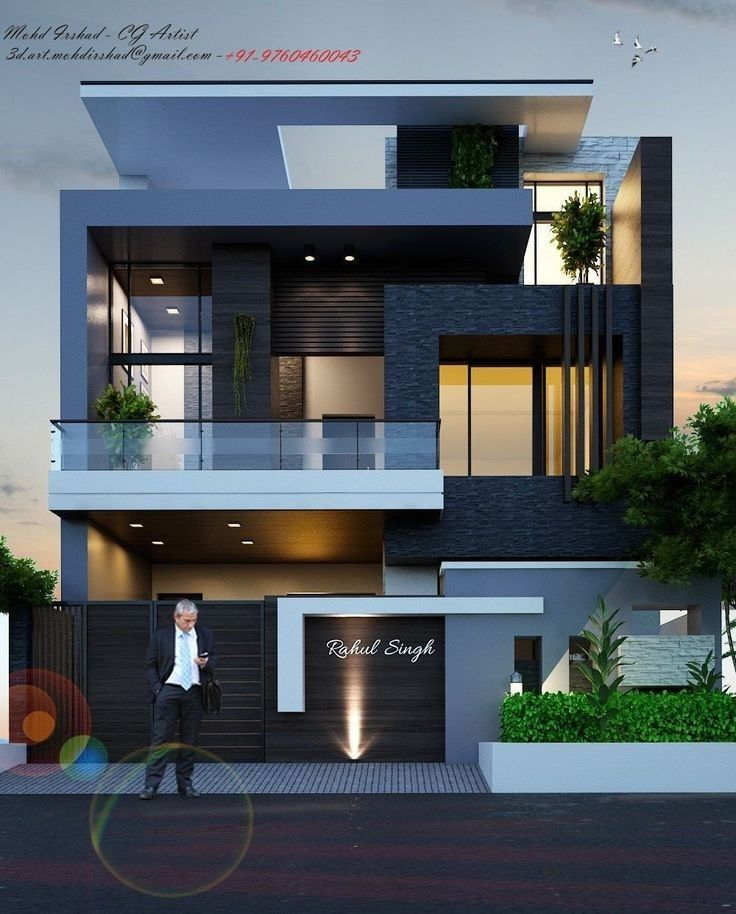 Modern Houses Front Elevation In 2020 3 Storey House Design Best Modern House Design 2 Storey House Design