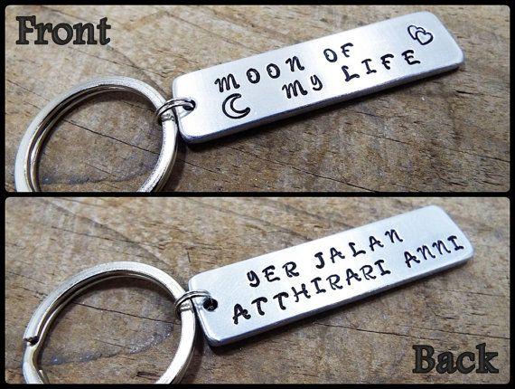 Moon Of My Life Keychain  FREE Shipping  Jer by Aluminiopassions
