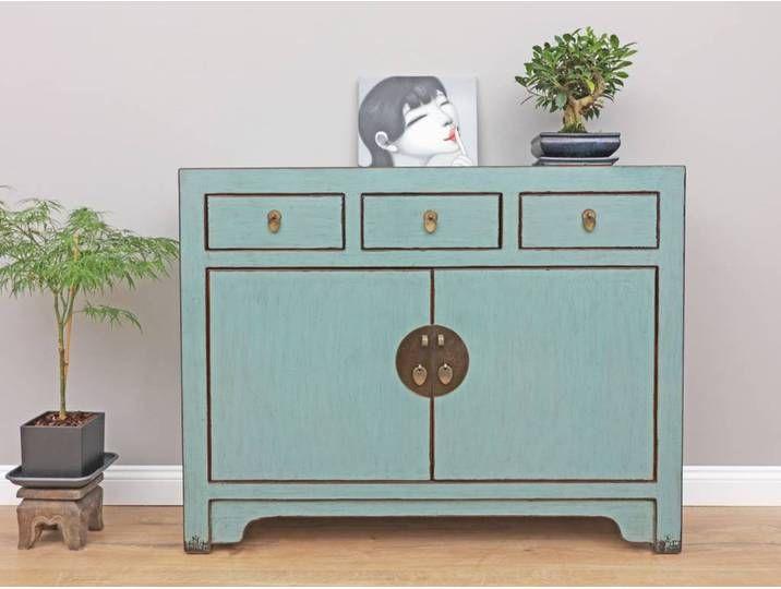 Chinesisches Sideboard Fernsehtisch Kommode Grau Furniture Decor Home