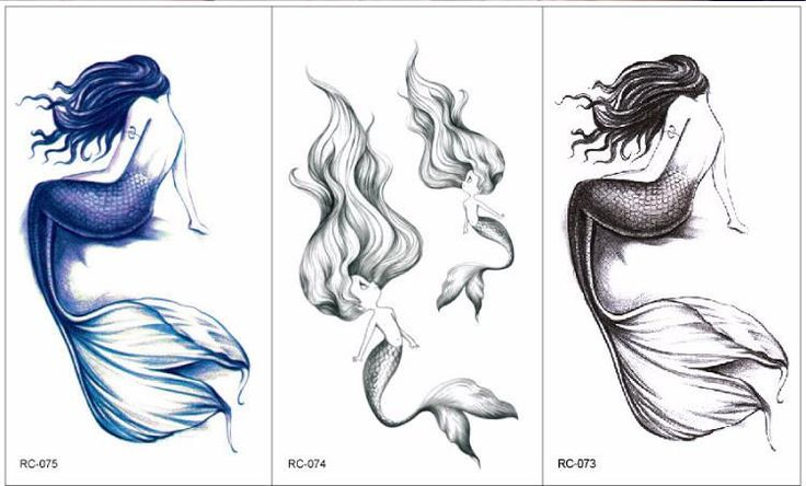 Product Information Product Type: Tattoo Sheet Set Tattoo Sheet Size: 11cm(L)*6cm(W) Tattoo Application & Removal Instructions Watercolor Mermaid Fish Lady
