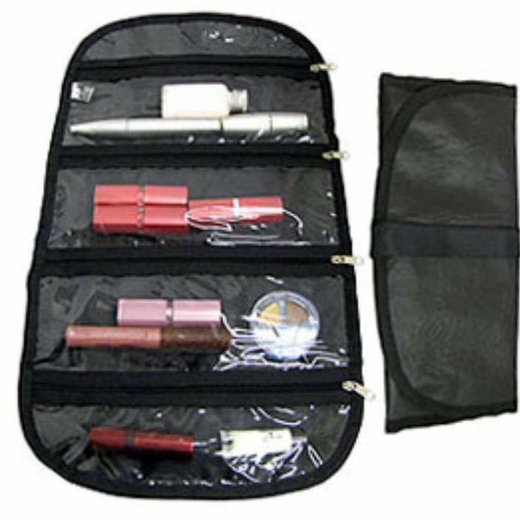 Necessaire preta Grande - Organize seus cosméticos e produtos de higiene pessoal em sua bolsa! - Viagem / Necessaires
