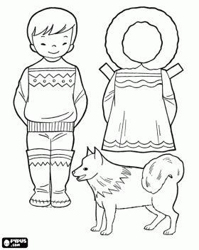 Eskimojongen met hond