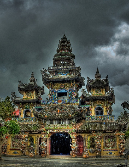 Linh Phuoc Pagoda - This pagoda was built around 1950. Dalat, Vietnam