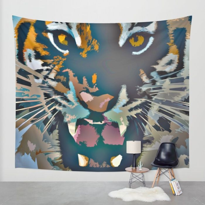 Buy Tiger Wall Tapestry by Animilustration. Worldwide shipping available at Society6.com. Just one of millions of high quality products available.