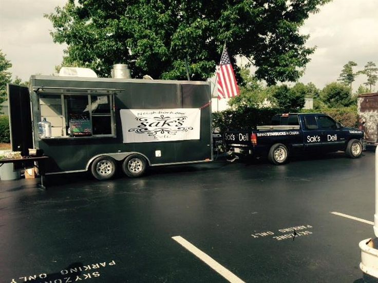 Sak's Food Truck on site serving delicious sandwiches