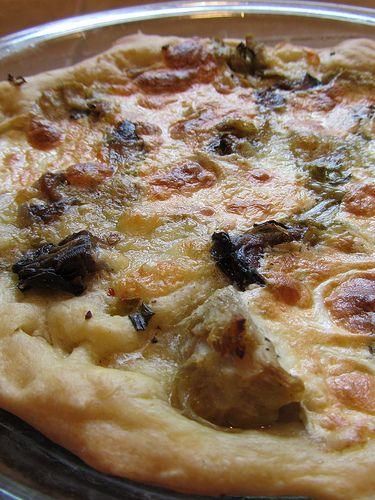 Smoked oyster & Artichoke Pizza