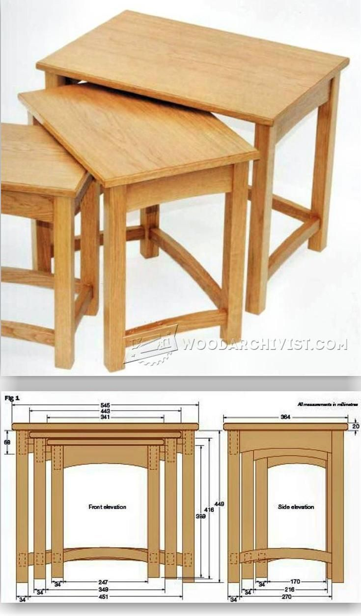 637 best wood furniture images on pinterest woodworking for Table design for project