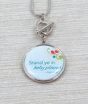 Stand Ye in Holy Places charm, 2013 Youth Theme.    Reflect your faith with this reminder to stand in holy places.