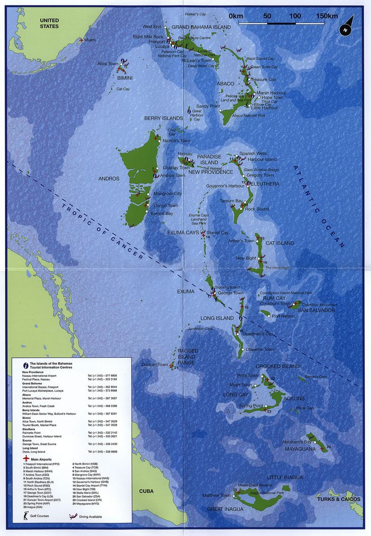 https://flic.kr/p/FPQwcd | Map & General Information, The Islands of the Bahamas; 2011_2 | tourism travel brochure | by worldtravellib World Travel library
