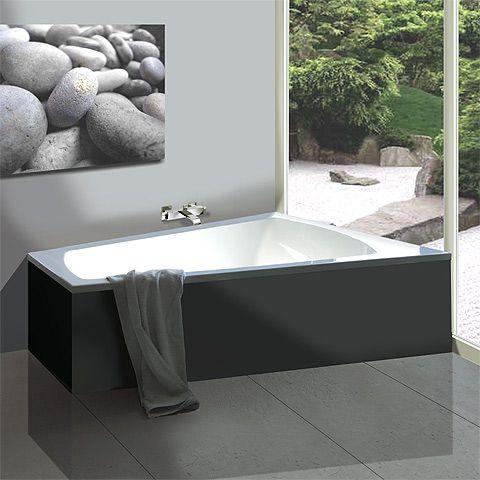Hoesch Largo Trapez Badewanne, rechte Ausführung - 3706.010 - Emero.de