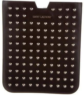 Saint Laurent Spiked Leather iPad Sleeve