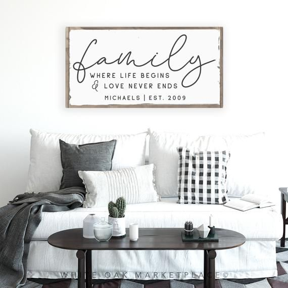 Famiglia Sign, Family Name Sign, Family Established Sign, Last Name Sign, Last Name Established Sign, Above Couch Sign, Farmhouse Decor