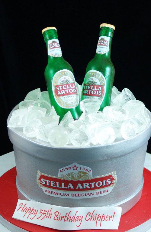 Beer Bottle Stella Artois ice bucket cake
