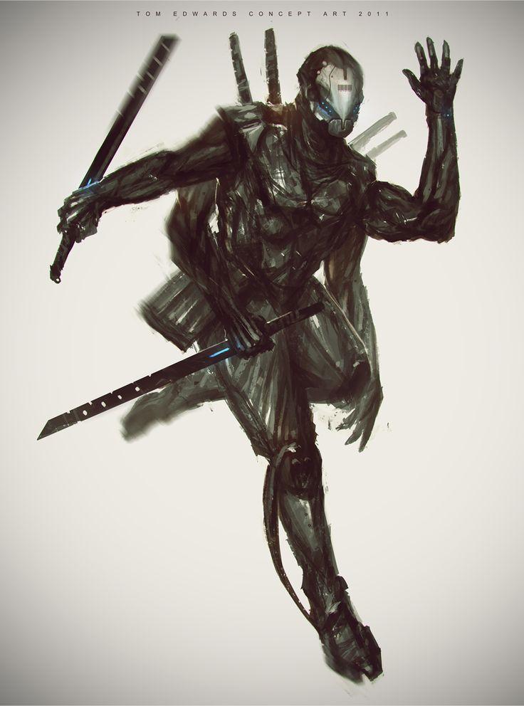 ninja cyborg | Cyborg Ninja sketch | Costume | Pinterest ...