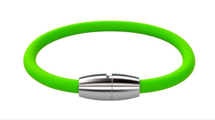 Silikon Das Armband besteht aus hautverträglichem Silikon und einem speziell entwickelten Bajonettverschluss der aus anti-allergenen Edelstahl gefertigt ist.   Länge: 17,5cm / 19,5cm / 21,5cm  Armband + Plakette