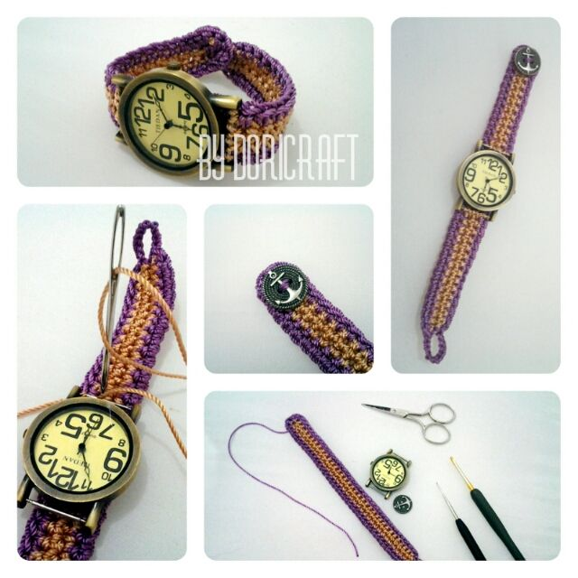 D.I.Y crocheted watch