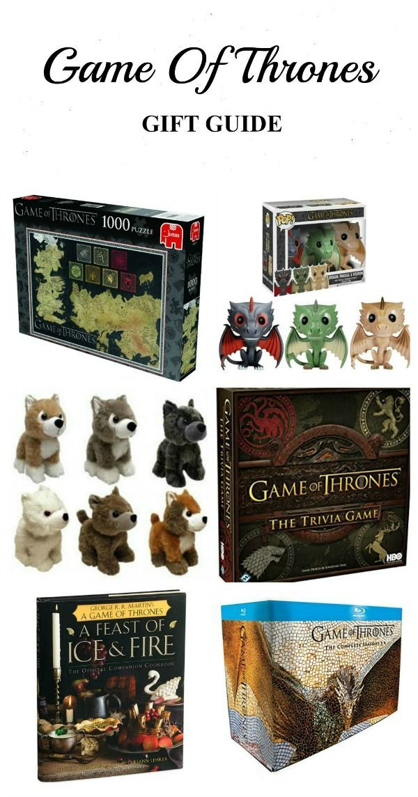 Game of Thrones Gift Guide - Best Gifts for Game of Thrones Fans - Game of Thrones Gift Ideas / Game of Thrones puzzle / Game of Thrones cookbook / Game of Thrones dragons / Game of Thrones Vinyl Toys / Game of Thrones Trivia Game / direwolves plush toys / A Feast of Ice and Fire