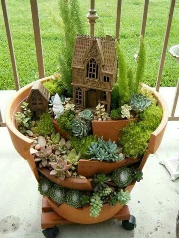 Funny pictures about Broken Pots Turned Into