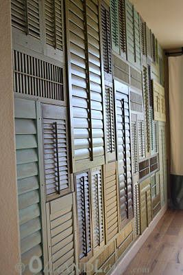 Shutter Wall by Olive and Love